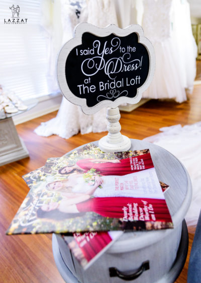 """I said Yes to the Dress at The Bridal Loft"" sign"