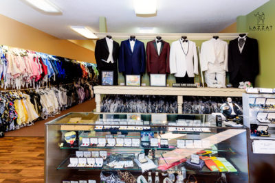 Randall's Formal Wear counter