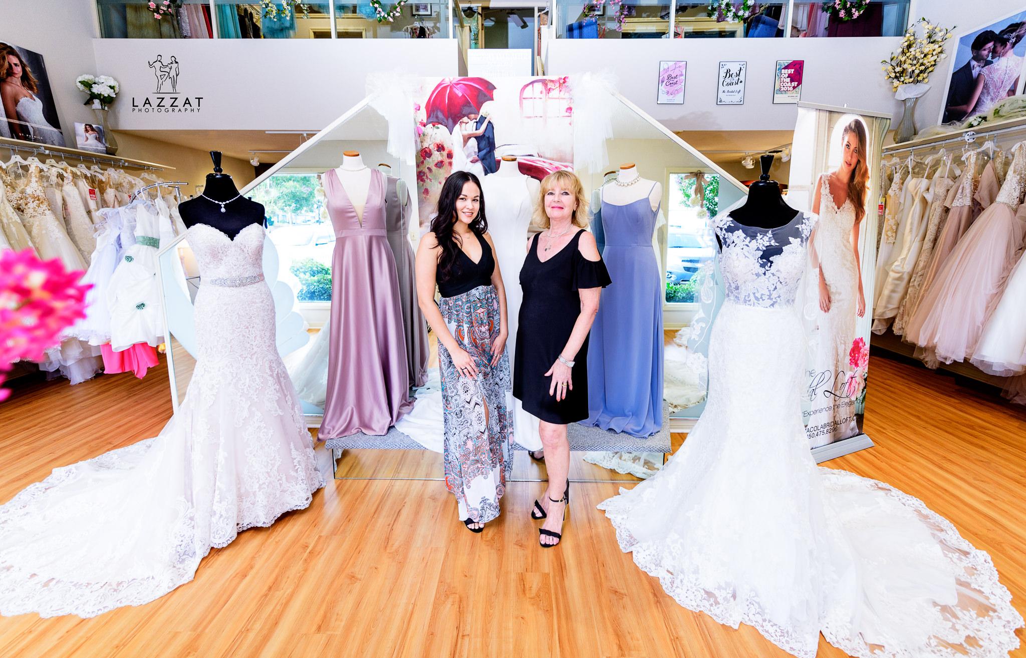 Ms. Brenda and Ms. Brandi in the Bridal Loft 2