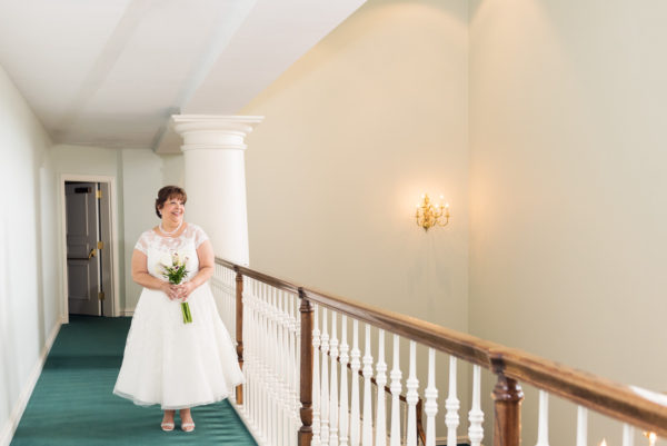Melinda portrait on green carpet