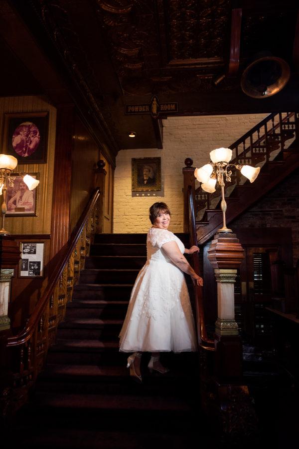 Melinda on stairs in Seville Quarter