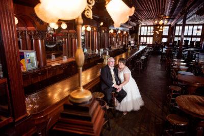 Melinda and Deon at bar in Seville Quarter