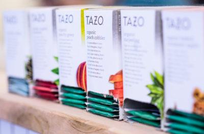 Blue Jay's Bakery's Tazo tea selection