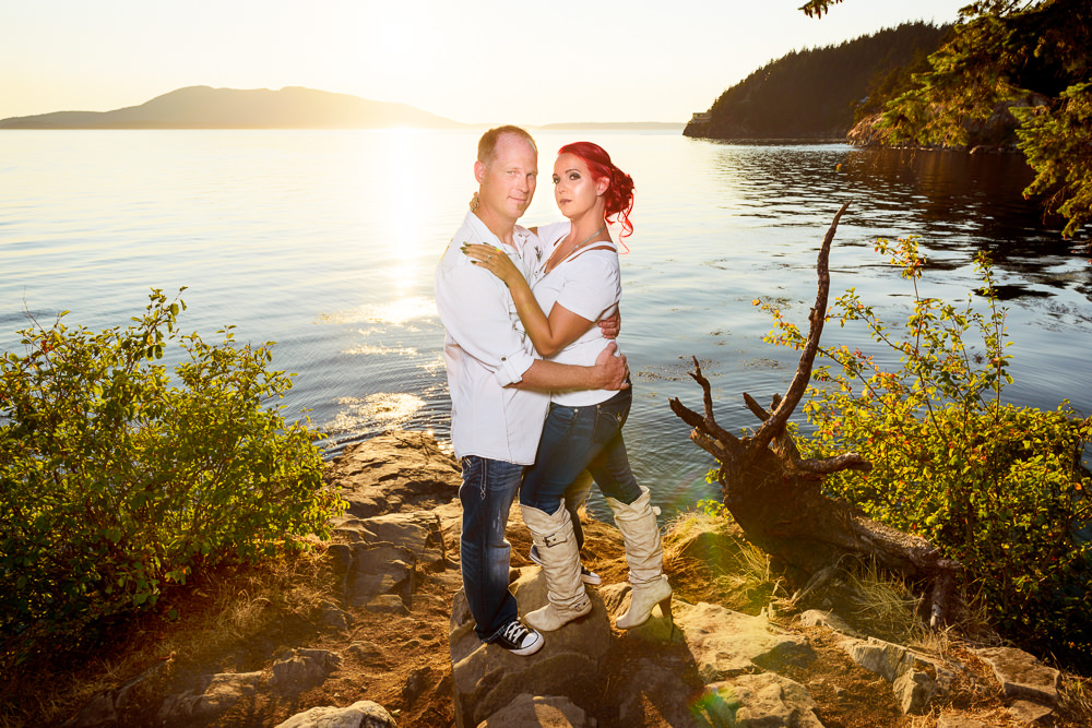 Couple hugging by the water, Larrabee State Park Engagement, Lazzat Photography, Engagement photos