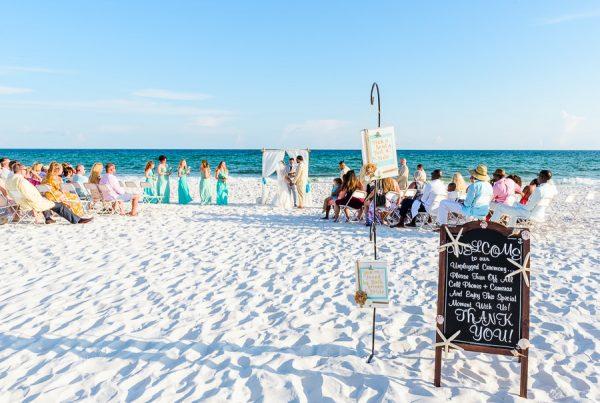 Pensacola Beach Destination Wedding, Desireé and Delaine's whole ceremony on the beach, Lazzat Photography