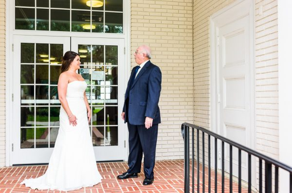 Downtown Pensacola Wedding, Kerri and her dad's first look, Lazzat Photography