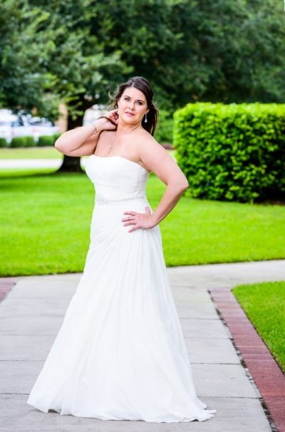 Downtown Pensacola Wedding, bridal portrait of Kerri, Lazzat Photography
