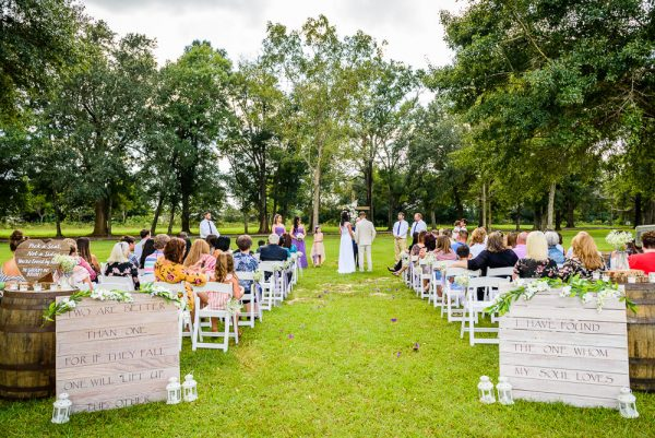 Michelle and Brent's full wedding ceremony, Ates Ranch Wedding Barn, Rustic Barn Wedding, Pensacola wedding photographer, Lazzat Photography
