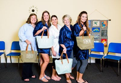 Downtown Pensacola Wedding, Kerri and the swag bags she made her bridesmaids, Lazzat Photography