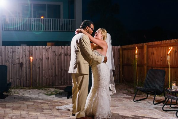Pensacola Beach Destination Wedding, Desireé and Delaine's first dance, Lazzat Photography