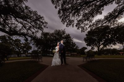 Downtown Pensacola Wedding, Cody and Karri back to back, Lazzat Photography