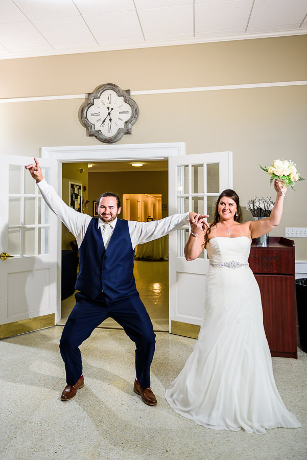 Downtown Pensacola Wedding, Cody and Karri's entrance to the reception, Lazzat Photography