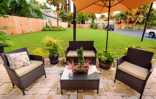 Powell Entertainment outdoor seating area, Lazzat Photography