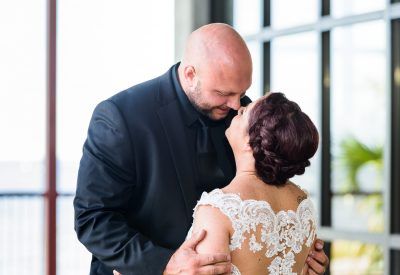 Close up of Ashley and Hill almost kissing, Pensacola Waterfront Wedding, Ashley+Hill, Lazzat Photography