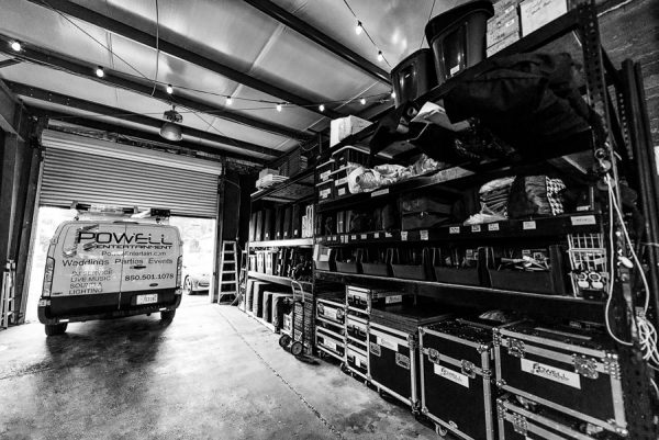 Powell Entertainment van and DJ/event equipment, Lazzat Photography