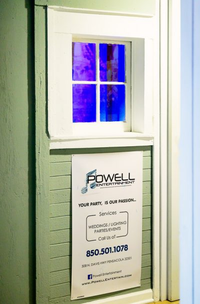 Powell Entertainment outdoor sign, Lazzat Photography