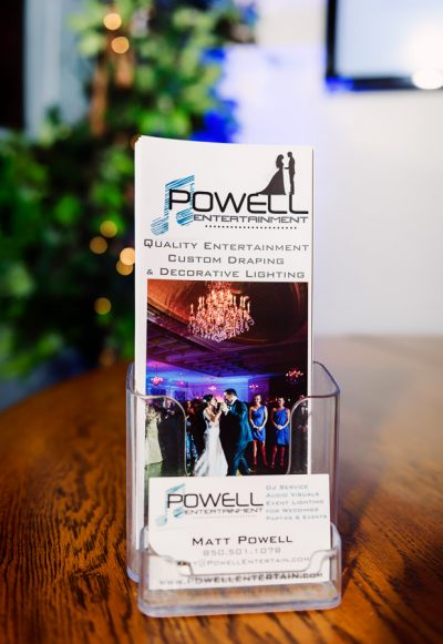 Powell Entertainment brochure and business cards, Lazzat Photography