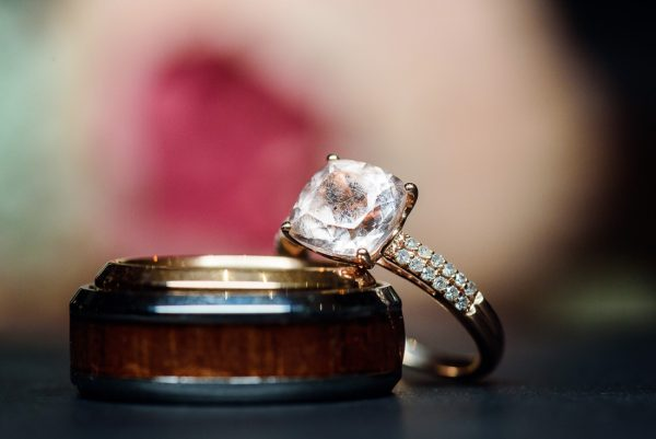 Ashley's ring leaning on Hill's ring, Pensacola Waterfront Wedding, Ashley+Hill, Lazzat Photography