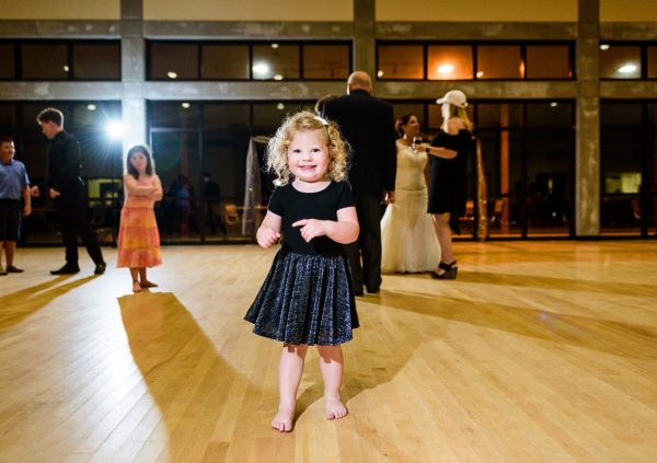Little girl dancing on the dance floor, Pensacola Waterfront Wedding, Ashley+Hill, Lazzat Photography