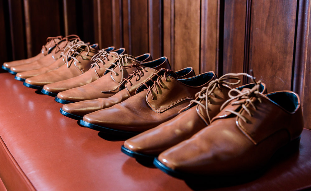 Groom and Groomsmen's brown shoes, Star Wars Wedding in Scenic Hills Country Club, Lazzat Photography