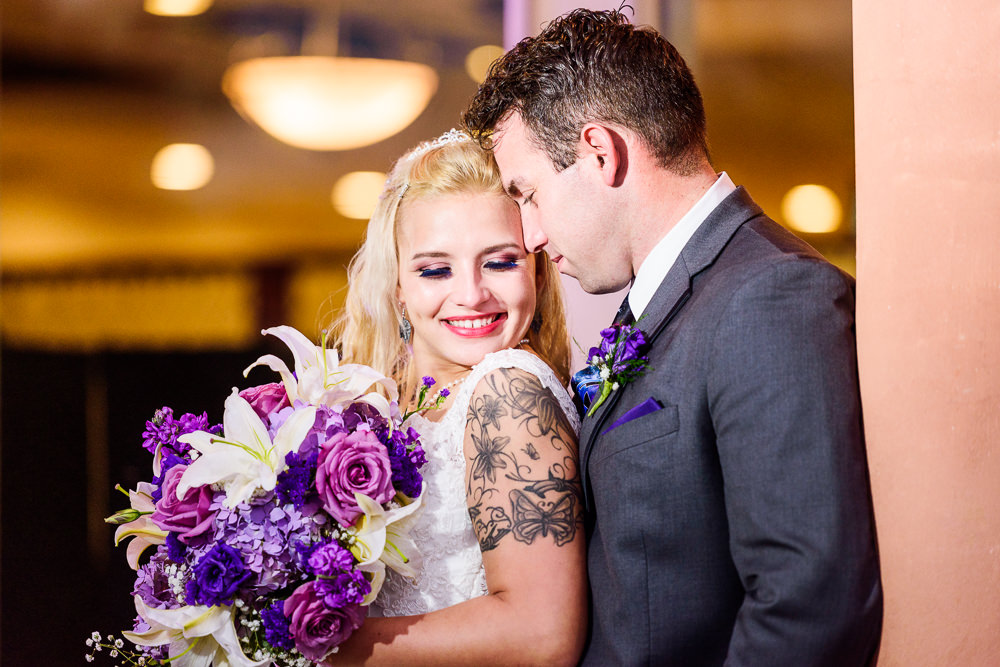 Bride and Groom snuggling outside, Star Wars Wedding in Scenic Hills Country Club, Lazzat Photography