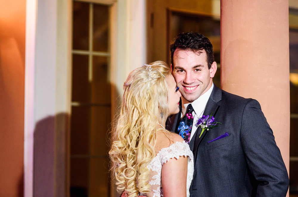 Groom smiling while his Bride looks up at him, Star Wars Wedding in Scenic Hills Country Club, Lazzat Photography