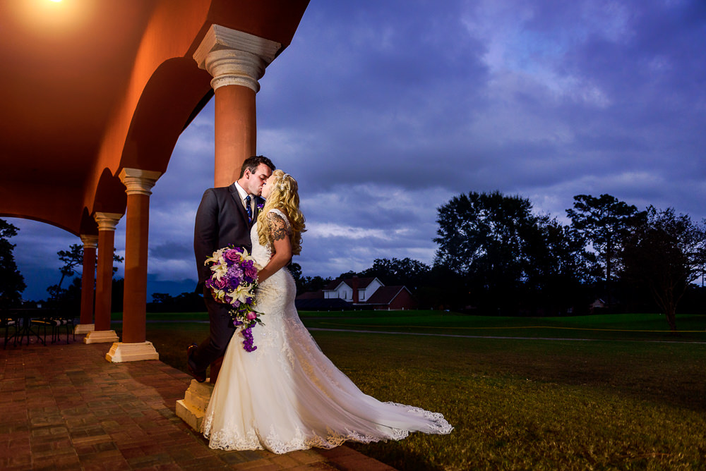Bride and Groom kissing outside, Star Wars Wedding in Scenic Hills Country Club, Lazzat Photography