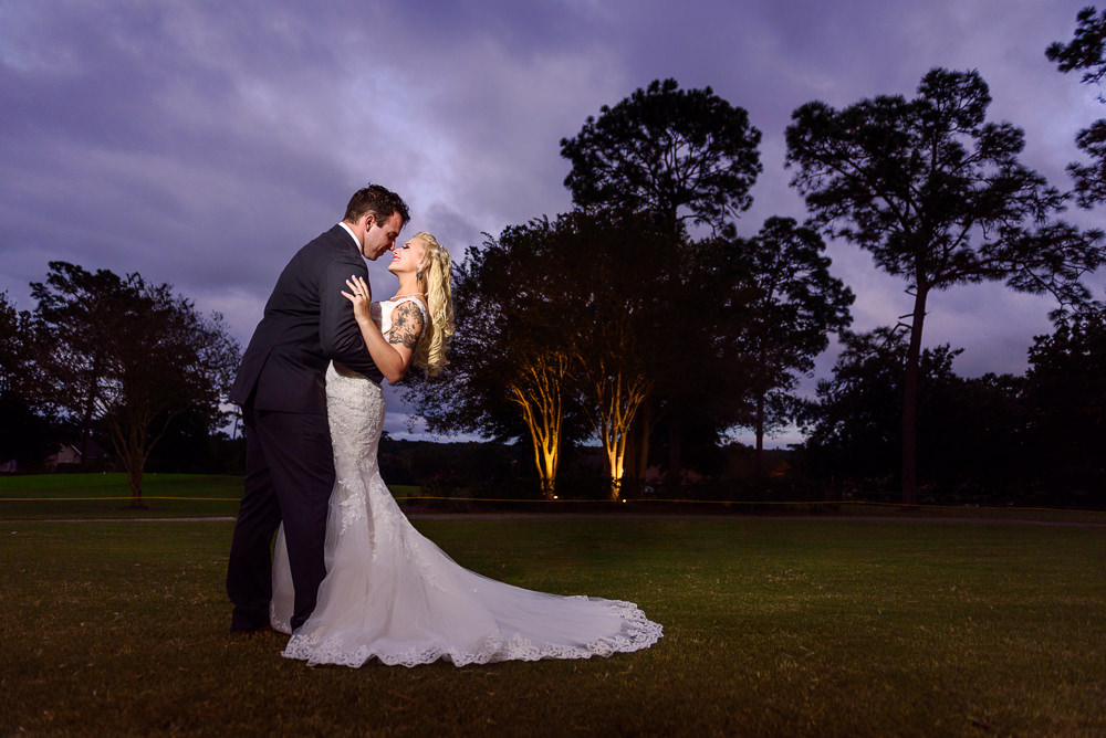 Bride and Groom outside, Star Wars Wedding in Scenic Hills Country Club, Lazzat Photography