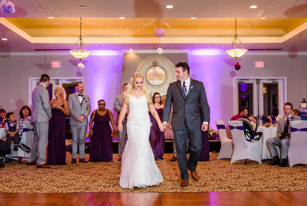 Bride and Groom walking onto the dance floor, Star Wars Wedding in Scenic Hills Country Club, Lazzat Photography