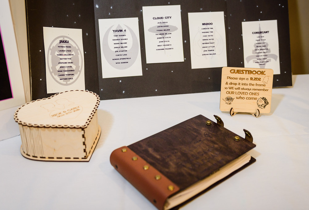 Star wars guest book, Star Wars Wedding in Scenic Hills Country Club, Lazzat Photography
