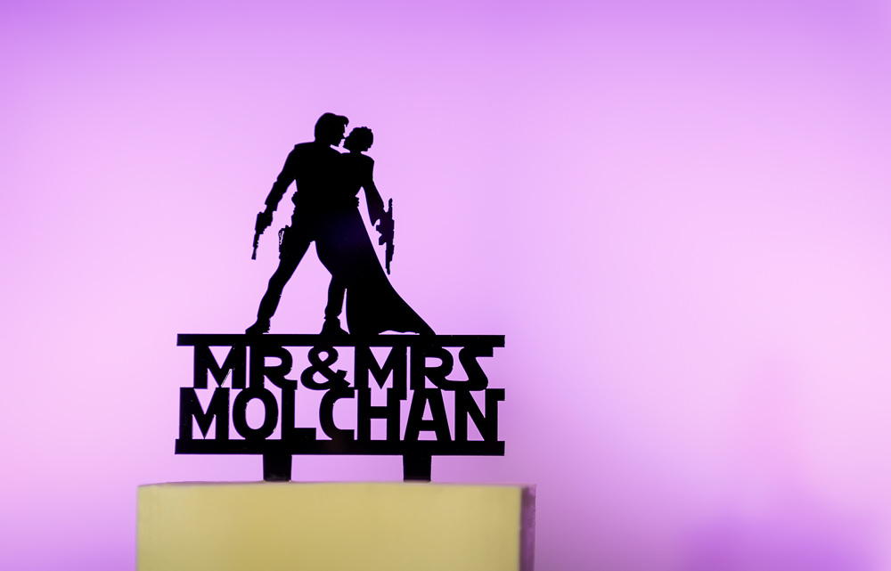 Silhouette cake toper, Star Wars Wedding in Scenic Hills Country Club, Lazzat Photography