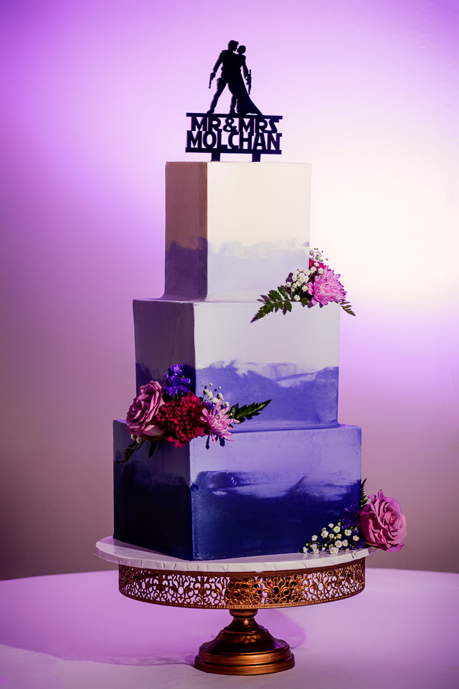 Purple and white wedding cake, Star Wars Wedding in Scenic Hills Country Club, Lazzat Photography