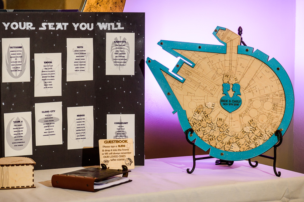 Star wars seating chart and guest book, Star Wars Wedding in Scenic Hills Country Club, Lazzat Photography