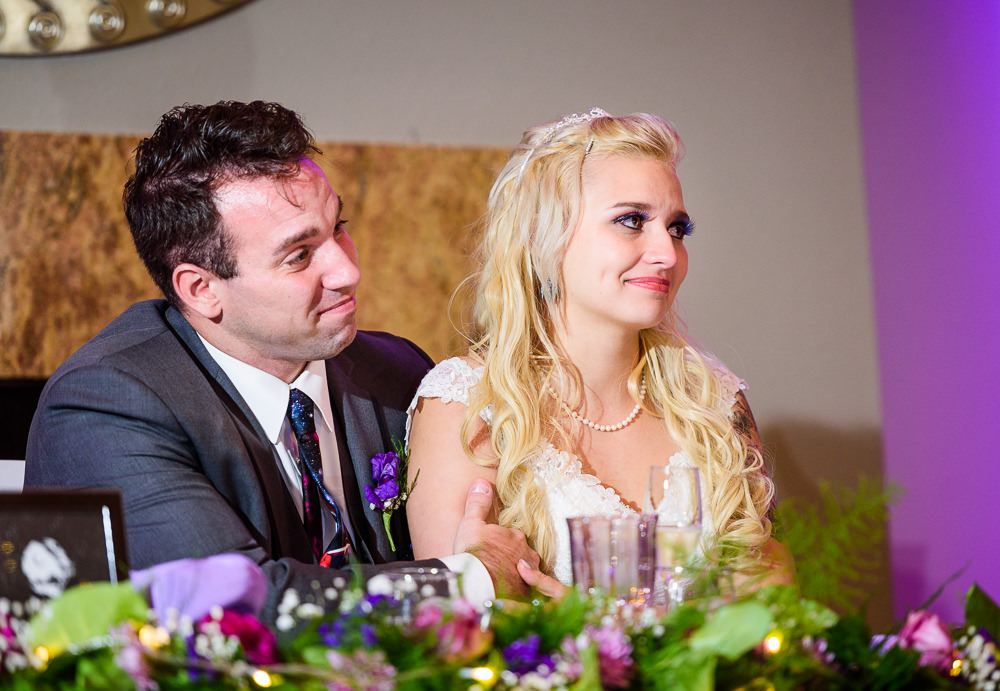 Bride and Groom watching toasts, Star Wars Wedding in Scenic Hills Country Club, Lazzat Photography