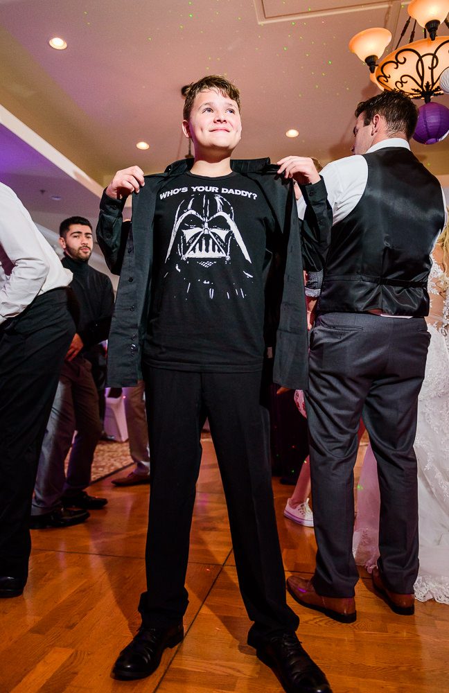 Boy's darth vader shirt, Star Wars Wedding in Scenic Hills Country Club, Lazzat Photography