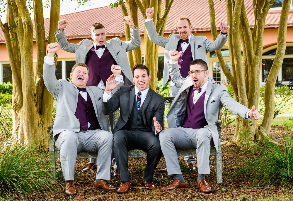 Groom and Groomsmen cheering, Star Wars Wedding in Scenic Hills Country Club, Lazzat Photography