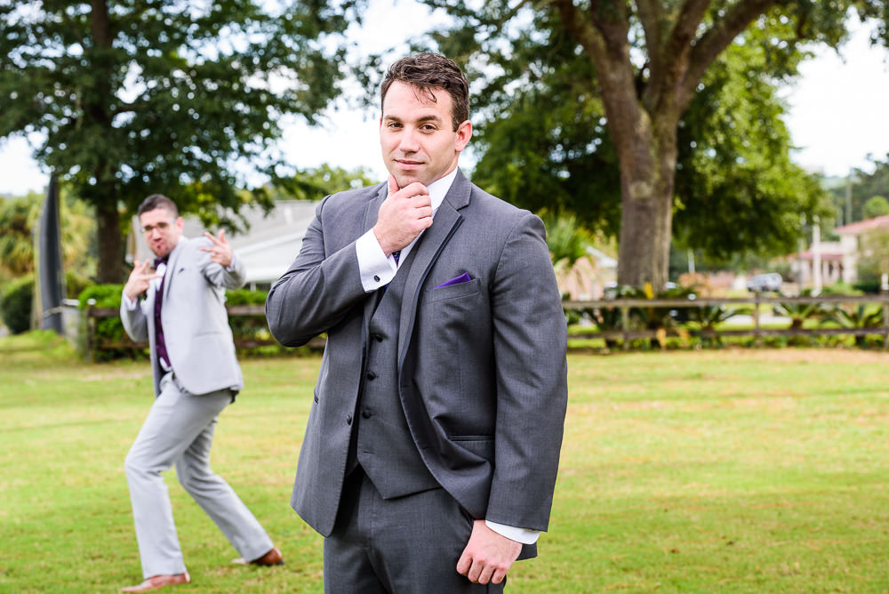 Groom getting photobombed by his Best Man, Star Wars Wedding in Scenic Hills Country Club, Lazzat Photography
