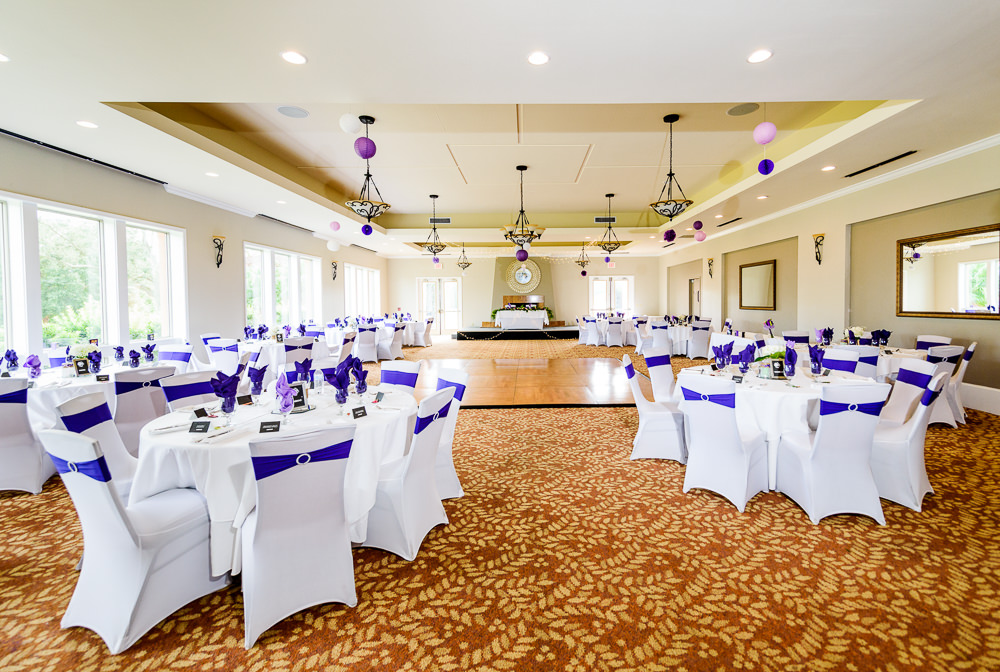 Wedding reception decorations, purple and white wedding, Star Wars Wedding in Scenic Hills Country Club, Lazzat Photography