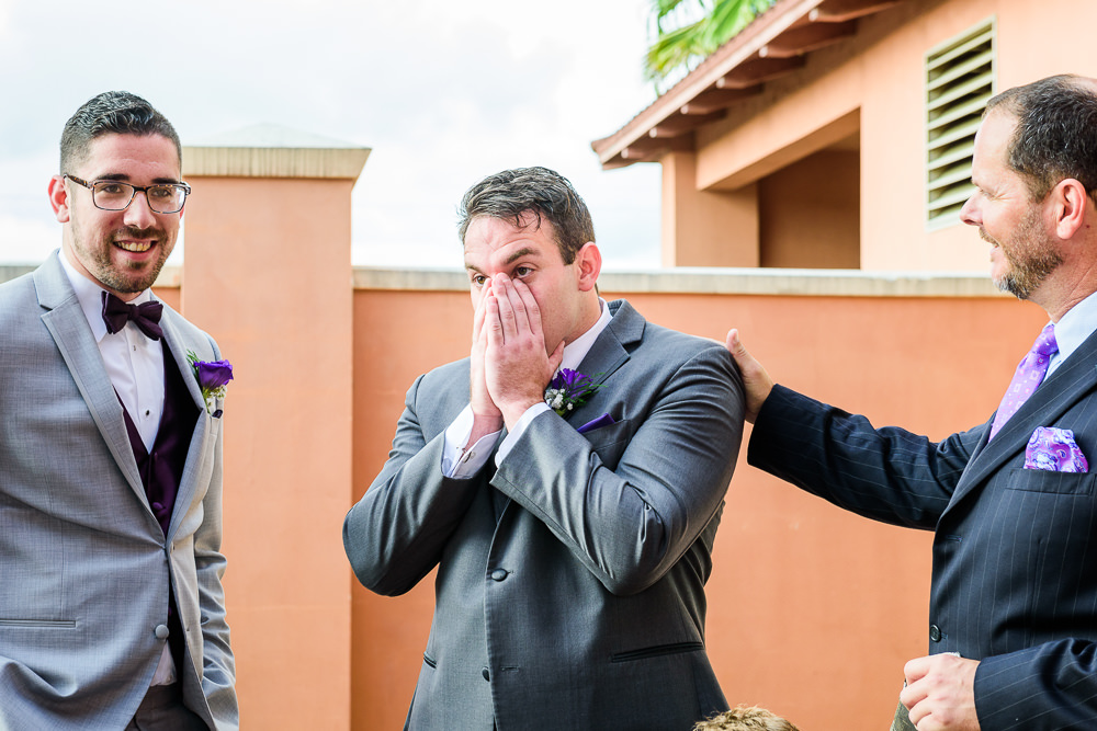 Groom realizing he forgot the wedding rings! Star Wars Wedding in Scenic Hills Country Club, Lazzat Photography