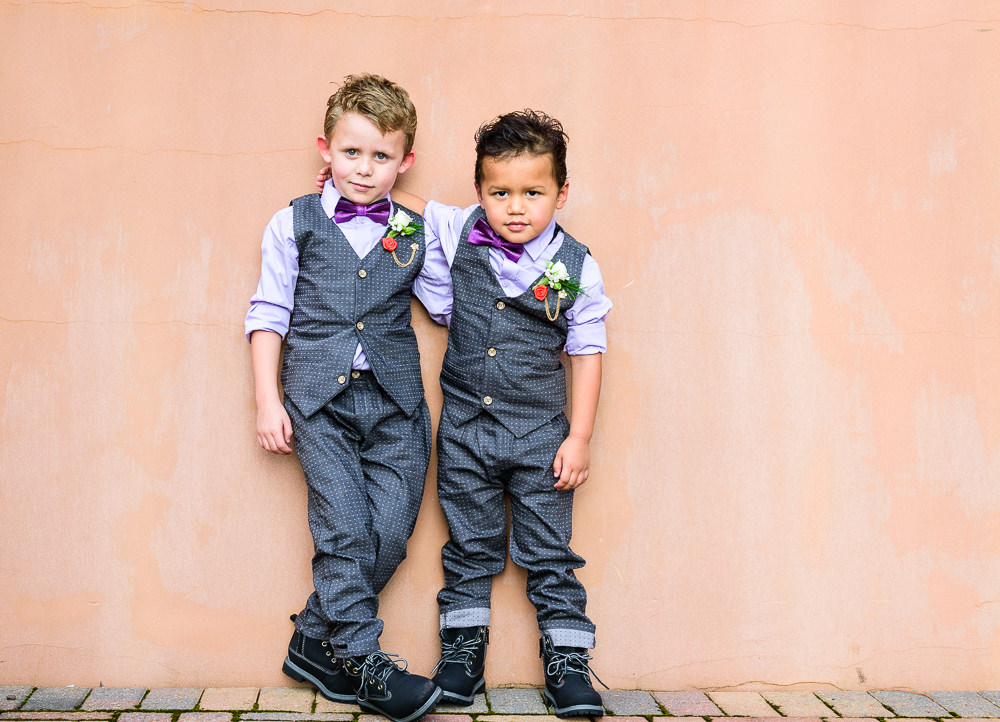 Ring bearers shoulder hugging, Star Wars Wedding in Scenic Hills Country Club, Lazzat Photography