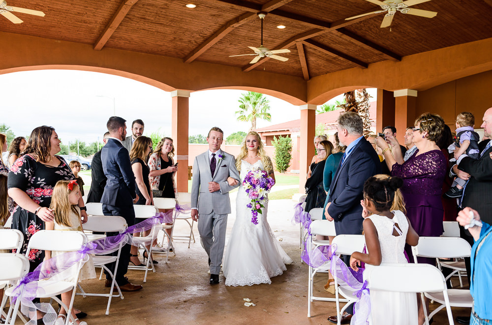 Dad walking Bride down the aisle, Star Wars Wedding in Scenic Hills Country Club, Lazzat Photography