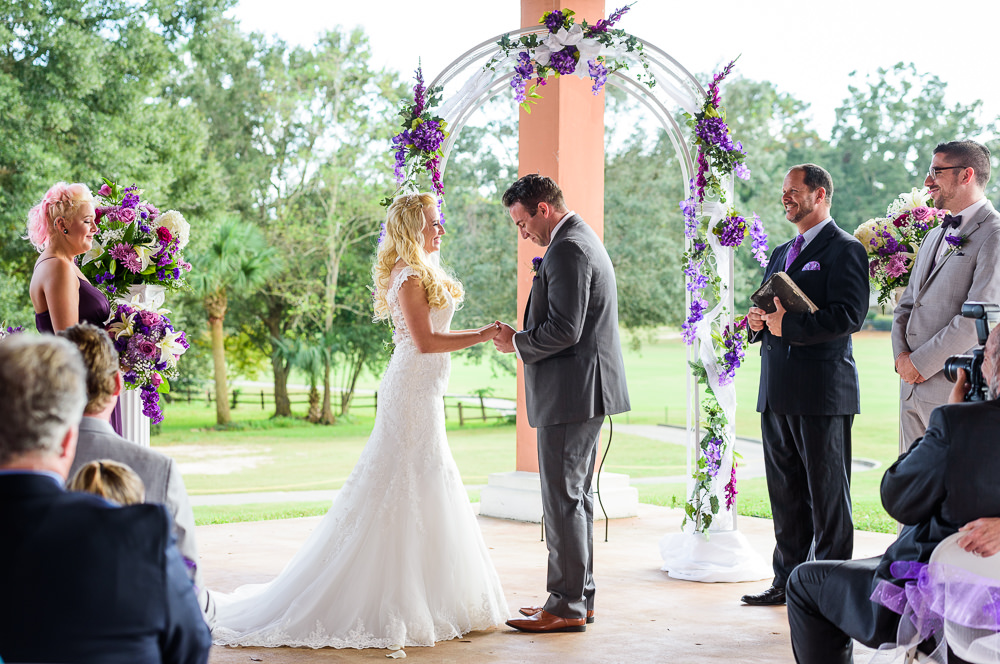 Groom getting emotional during their wedding ceremony, Star Wars Wedding in Scenic Hills Country Club, Lazzat Photography