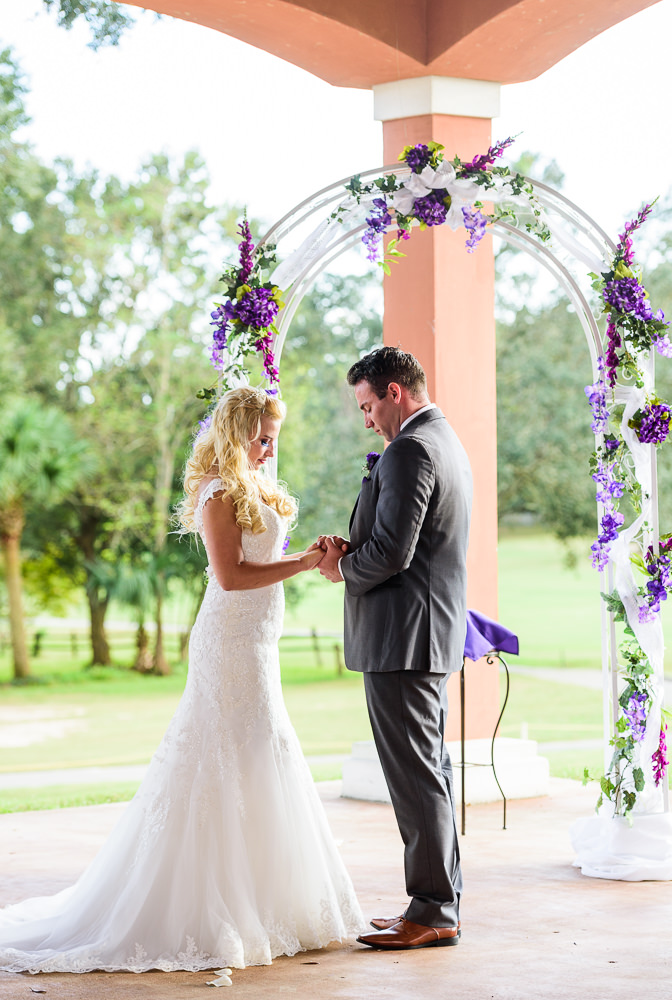 Close up of Bride and Groom at the alter, Star Wars Wedding in Scenic Hills Country Club, Lazzat Photography