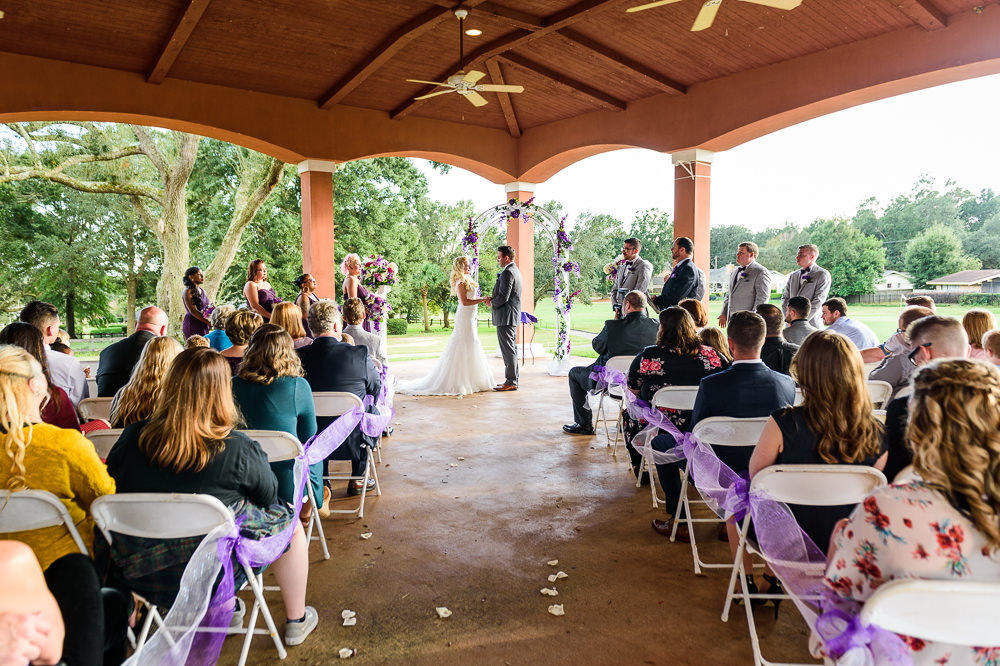 Bride and Groom at the alter, Star Wars Wedding in Scenic Hills Country Club, Lazzat Photography