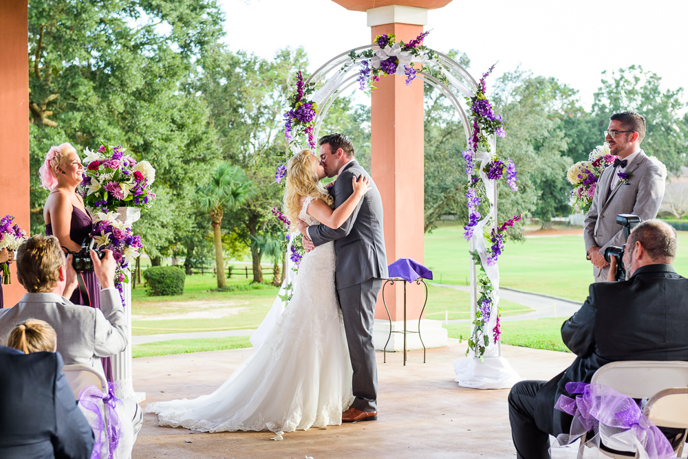 Bride and Groom's first kiss, Star Wars Wedding in Scenic Hills Country Club, Lazzat Photography