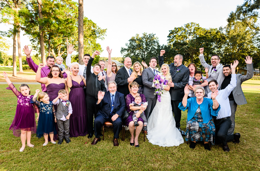 Bride and Groom with their family cheering, Star Wars Wedding in Scenic Hills Country Club, Lazzat Photography