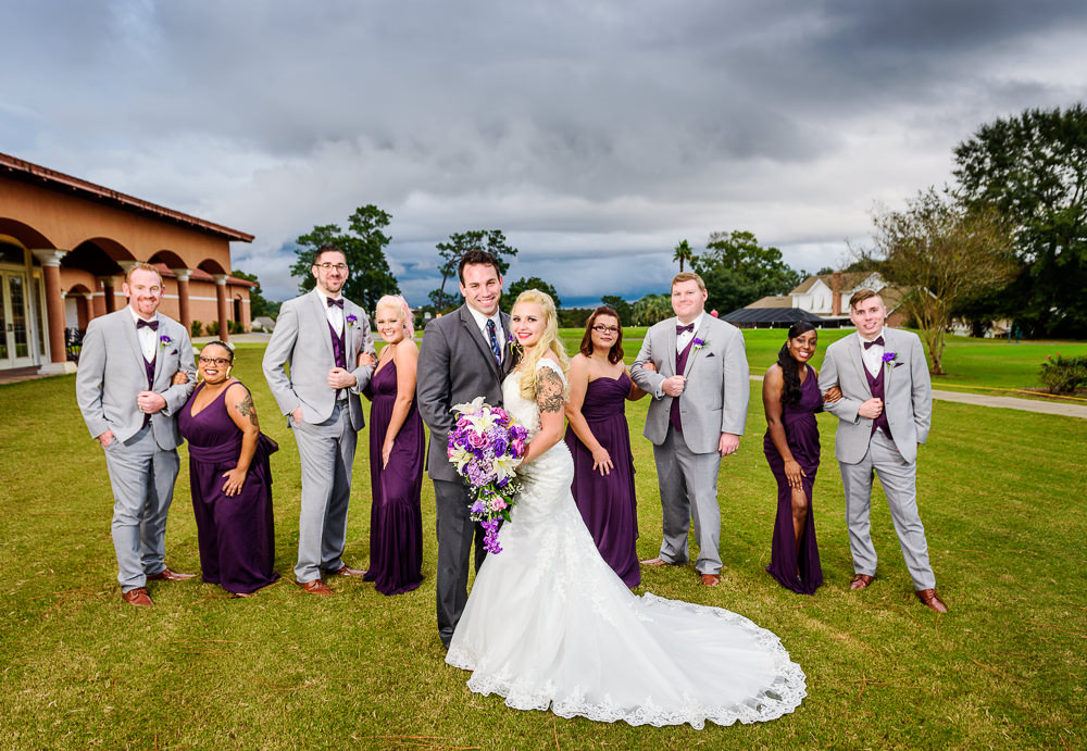 Bride and Groom with their wedding party, Star Wars Wedding in Scenic Hills Country Club, Lazzat Photography
