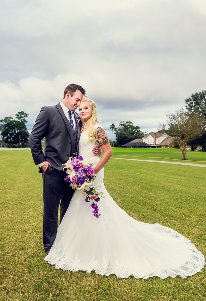 Groom leaning his head on his Bride outside, Star Wars Wedding in Scenic Hills Country Club, Lazzat Photography