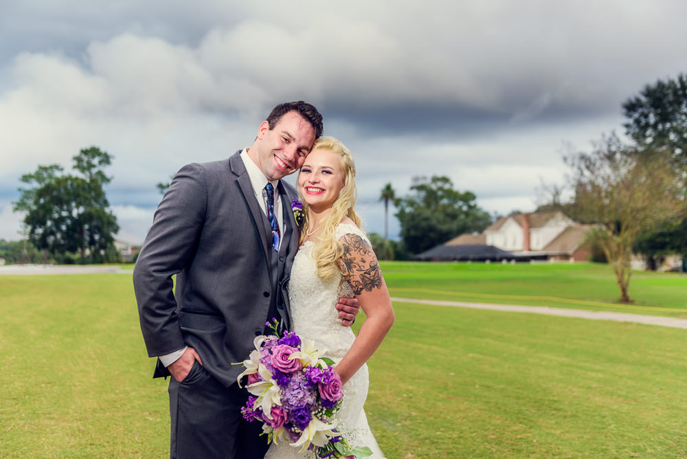 Close up of Bride and Groom smiling outside, Star Wars Wedding in Scenic Hills Country Club, Lazzat Photography