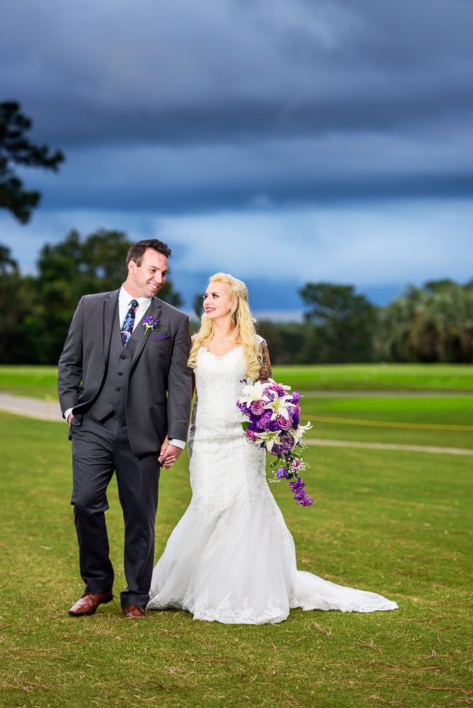 Bride and Groom walking outside, Star Wars Wedding in Scenic Hills Country Club, Lazzat Photography